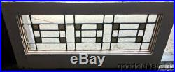 1 of 2 Antique Arts & Crafts Leaded Glass Stained Glass Transom Window 27 12