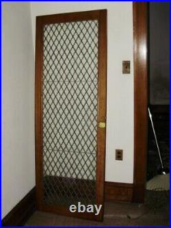 2 Matching Antique Leaded Glass Cabinet Doors Or Windows 27 X 74 each