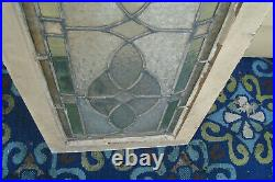 61037 Antique Victorian Stained Glass Leaded Window