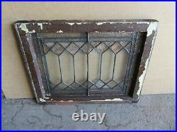 ANTIQUE STAINED GLASS TRANSOM WINDOW 27.25 x 21.75 ARCHITECTURAL SALVAGE