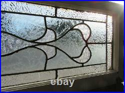 ANTIQUE STAINED GLASS TRANSOM WINDOW 43 x 14 ARCHITECTURAL SALVAGE