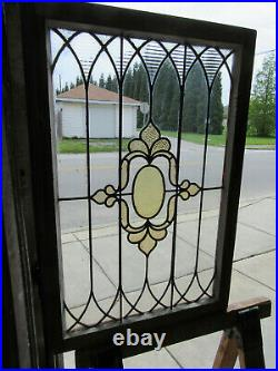 ANTIQUE STAINED GLASS WINDOW 25 x 37 ARCHITECTURAL SALVAGE