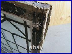 ANTIQUE STAINED GLASS WINDOW 40.5 x 32 ARCHITECTURAL SALVAGE