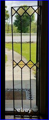 ANTIQUE STAINED GLASS WINDOW, EARLY 1900s RECENTLY RELEADED
