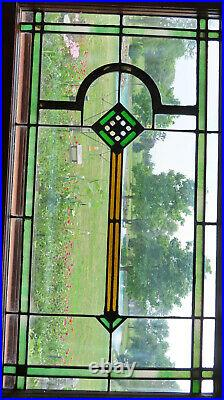 ANTIQUE STAINED GLASS WINDOW ca. 1920s
