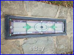 ANTIQUE STAINED LEADED GLASS WINDOW, COAL MINE REGION OF PA, EARLY 1900s