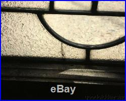Antique 1 of 2 1920's Chicago Stained Leaded Glass Window 32 by 23 Transom