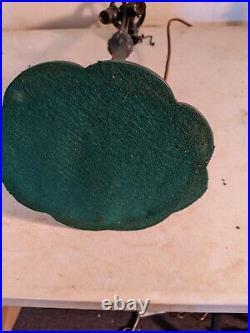 Antique AJ Whaley lamp base leaded/slag glass Handel Era