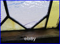 Antique American Stained Glass Window Circle Top 16 X 21 Salvage