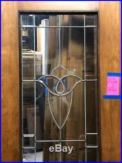 Antique Beveled Glass Entry Door Fancy Door Vintage Door Leaded Glass Door