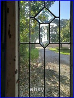 Antique Beveled Glass Window Architectural Salvage