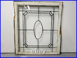 Antique Beveled Glass Window Pair Architectural Salvage
