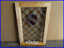 Antique Beveled Jeweled Stained Glass Window 17.5 X 27.5 Salvage