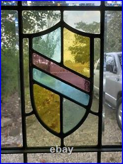 Antique Door With Fully Beveled Leaded Glass Architectural Salvage