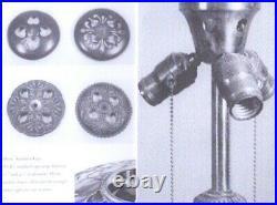 Antique Duffner & Kimberly Leaded Glass Lamp Bradley & Hubbard Handel Wilkinson