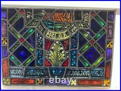 Antique German Stained Glass Church Window From A Closed Church P16