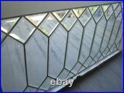 Antique Leaded Beveled Glass Window VGC all original 44 x 19