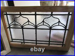 Antique Stained Glass Transom Window 34 X 22 Architectural Salvage
