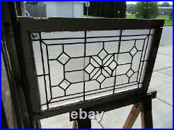 Antique Stained Glass Transom Window Bevels 34.75 X 22.5 Salvage
