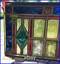 Antique Stained Glass Window / Kiln Fired Glass