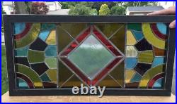 Antique Stained Glass Window (transom)