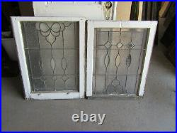 Antique Stained Glass Windows Top Bottom Bevels Architectural Salvage