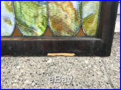 Antique Stained Leaded Glass Window 29 by 28 Circa 1920