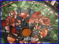 Antique Tiffany Studios Reproduction Poppy Leaded Glass Lamp Chicago styles