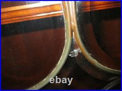 Antique Victorian 11 FOOT! Mahogany Leaded Glass 6 Door Bookcase, c1910/ Orig