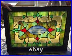 Antique Victorian STAINED Leaded GLASS WINDOW TRANSOM