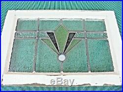 Antique Vintage Church Stain Glass Window 23 x 16