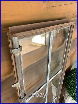 Antique Vintage Industrial Steel Casement Lite Leaded Glass Window
