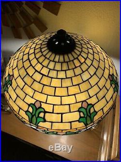 Antique Wilkinson Leaded Glass Lamp Duffner Handel Tiffany Era