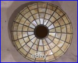 Antique Wilkinson leaded art glass lamp Handel Tiffany Duffner arts & crafts