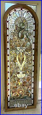 Antique beveled zipper window of the Gilded Age
