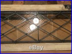 Antique leaded glass transom window 15 3/8 x 53 3/4
