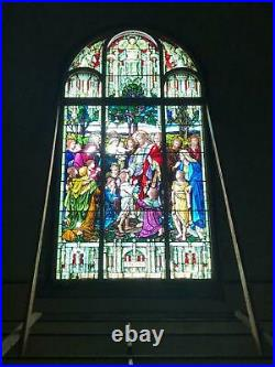 Beautiful Mayer Of Munich Stained Glass Religious Church Window Of Jesus Gc5