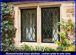 Diamond leaded glass Windows all sizes True leaded glass no lead tape or foil
