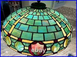 Duffner & Kimberly Leaded Glass Lamp, Tiffany Handel Era
