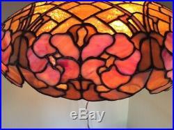 Duffner kimberly arts crafts leaded slag glass lamp tiffany studios handel era