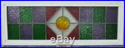ENGLISH LEADED STAINED GLASS WINDOW TRANSOM Geometric Pub Glass 36 x 13.25