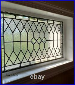 Elegant Stained Glass Window Transom 16 x 40