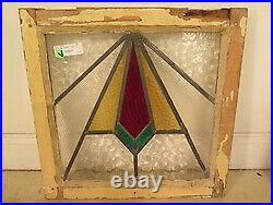 F41661 Original Antique Leaded & Stained Glass Window