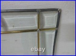 FULL BEVELED GLASS WINDOW PAIR 14x37