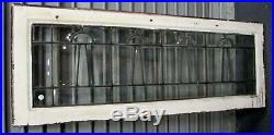 Fine Antique All Beveled Leaded Glass Transom Window Estate # 580 Priced Reduced