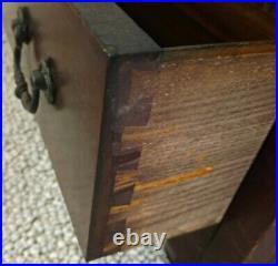 Globe-wernicke 3 Shelf Oak Bookcase D-8 1/2 598 1/2, 312, Leaded Glass, Drawer