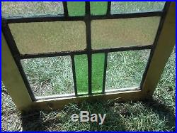 H-220 TALL SLIM Beautiful Older Leaded Stained Glass Window F/France Reframed