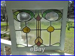 H-30-258 Lovely Victorian Era Leaded Stained Glass Window F/England 23 X 21