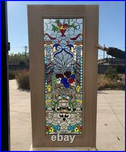 Hand Made Leaded Stained Glass Mahogany Entry Door Jhl2167 69