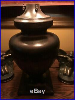 Handel Arts Crafts Antique Leaded Slag Glass Bradley Hubbard Era Lamp Base